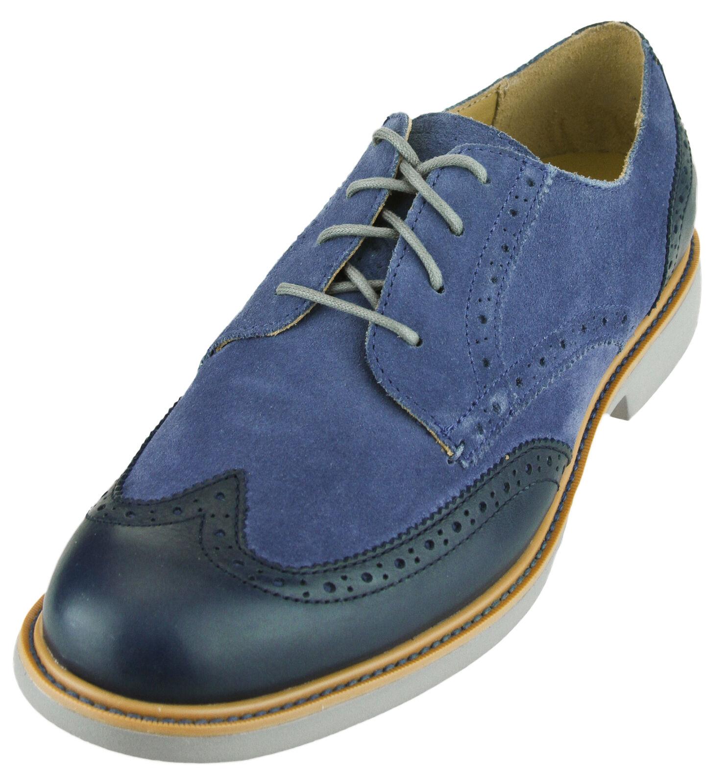 Cole Haan Men's Great Jones Wingtip II Lace Up Casual Dress Oxford shoes, bluee