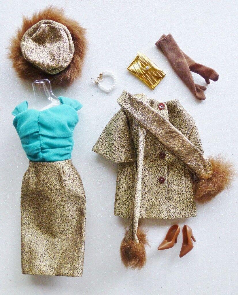 Barbie oro N Glamour Conjunto Set reproducción deboxed complete todos los accesorios