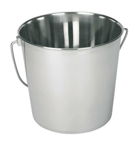 Cubo de acero inoxidable 8,5 litros de leche cubo alimentos cubo de agua tränkeeimer