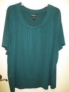 0a5647488af Women s Plus Size MAGGIE BARNES Polyester SS Shell Blouse top - Sz ...