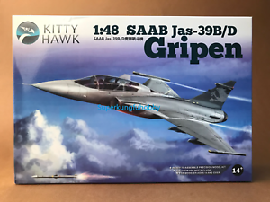 Kitty Hawk KH80118 1//48 SAAB JAS-39B//D Gripen Model Kit