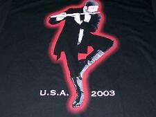 Ian Anderson U.S.A. Tour 2003 M Medium Black T-Shirt Jethro Tull