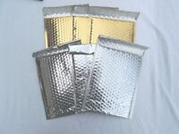 20 Gold And Silver Poly Bubble Mailers,6x9 Padded Mailing Shipping Envelopes