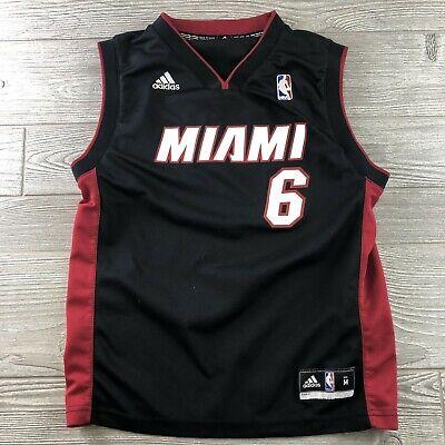 ADIDAS LEBRON JAMES #6 MIAMI HEAT NBA BASKETBALL JERSEY SIZE Medium Youth | eBay