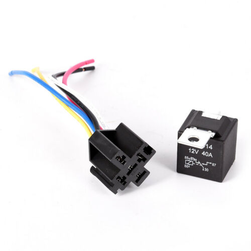 Waterproof Automotive Relay 12V 5Pin 40A Car Relay 12V 5Pin With Relay Socket HV