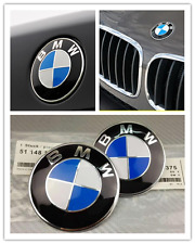 NEW Car Emblem Logo For BMW 2 Pins Front Hood Logo Badge 82mm+ Rear Trunk 73mm
