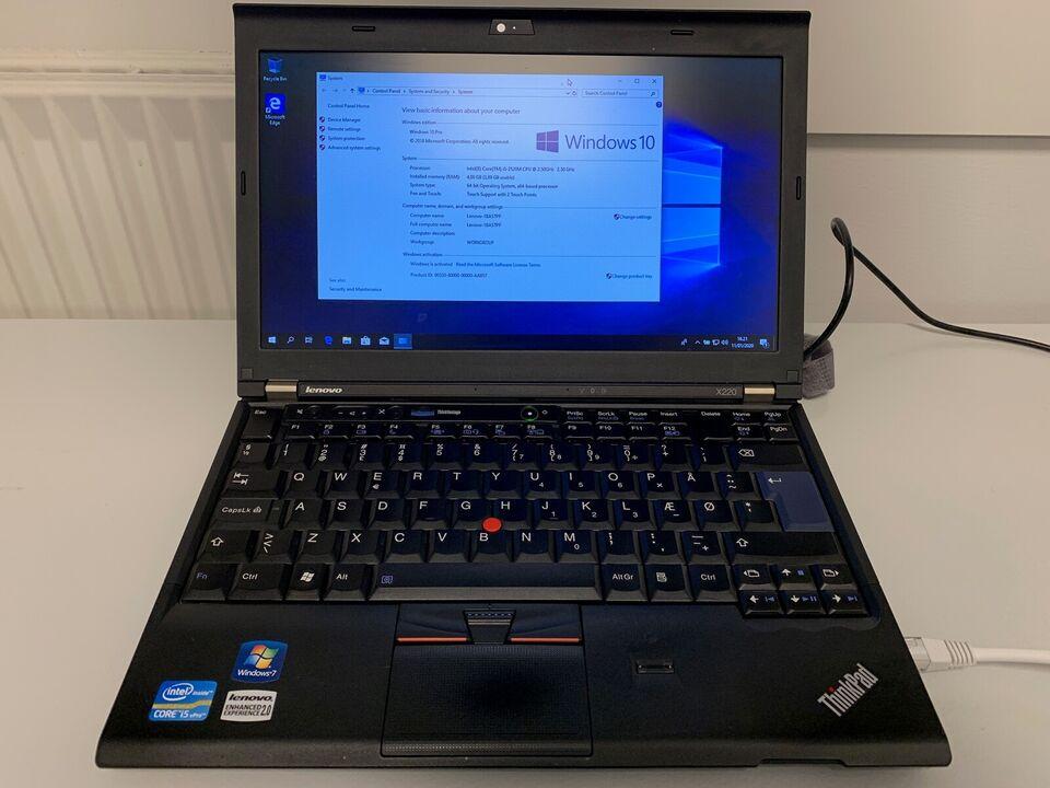 Lenovo X220, 2,5 GHz, 4 GB ram