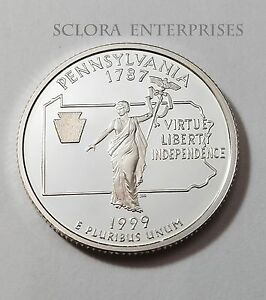 1999-S-PENNSYLVANIA-90-SILVER-PROOF-STATE-QUARTER-FREE-SHIPPING