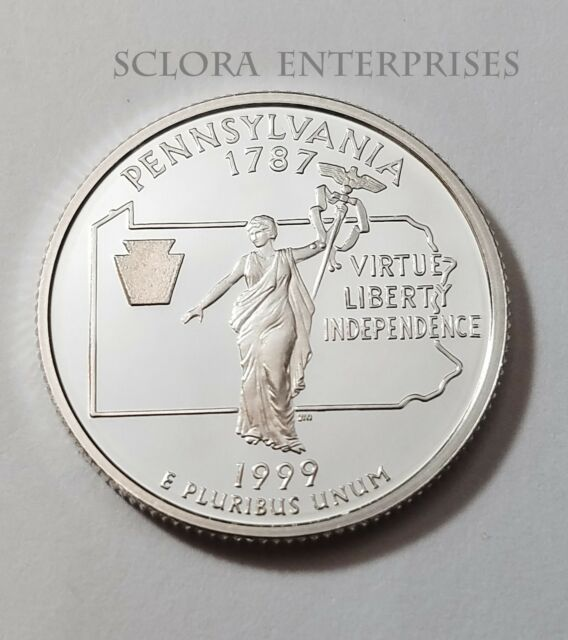 1999 S PENNSYLVANIA  *90% SILVER PROOF*  STATE QUARTER   **FREE SHIPPING**
