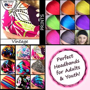 Vintage Headband Sweatband Sport Head Wrap Tennis Badminton Yoga Vintage
