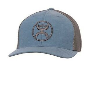 pretty nice 9df13 c0cde Image is loading Hooey-Hat-Cody-Ohl-Blue-amp-Grey-Trucker-
