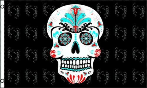 Sugar Skull Flag 3x5 ft Mexican Day of the Dead Mexico Halloween Colorful NEW