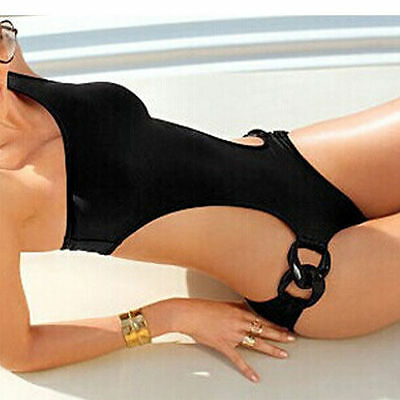 Sexy One-Piece Women one-shoulder Bikini Padded Swimwear Suit Monokini 8 10 12