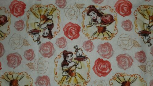 HALF A YARD DISNEY PRINCESS BELLE fabric FABRIC 100/% COTTON Beauty and the beast