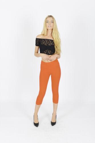 Leggings Comfortable Women Cropped 3//4 Capri Length Summer 100/% Genuine Cotton