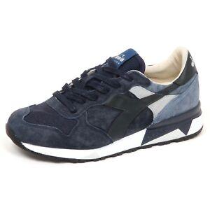 E6808 sneaker uomo blu DIADORA HERITAGE TRIDENT scarpe shoe man