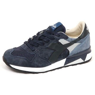 E6808 Blue Mens Trainers Diadora Heritage Trident shoes shoe man | eBay
