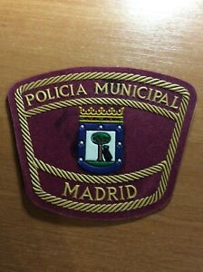 SPAIN-PATCH-POLICE-POLICIA-MUNICIPAL-MADRID-CAPITAL-CITY-ORIGINAL