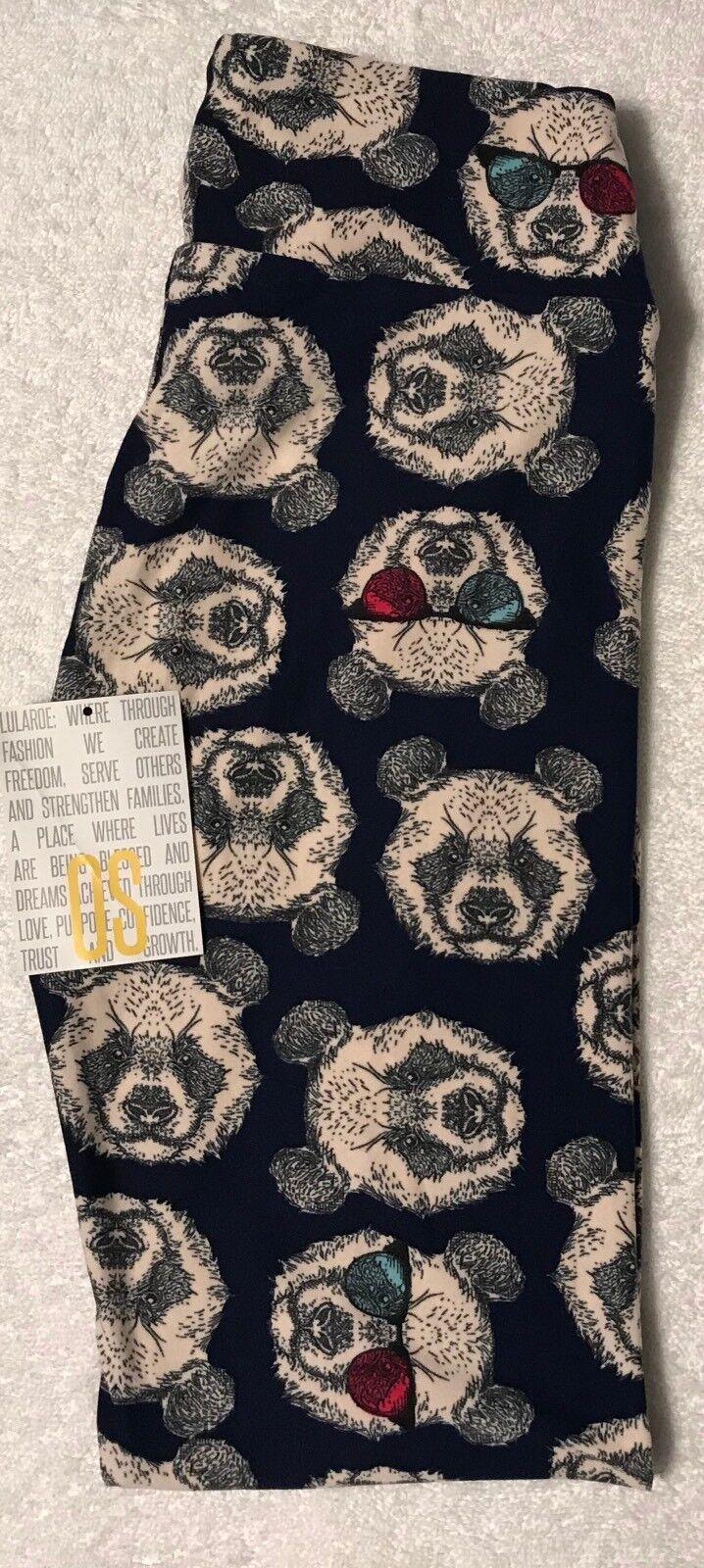 NEW LuLaRoe OS Hipster Panda Bear Sunglasses UNICORN Leggings