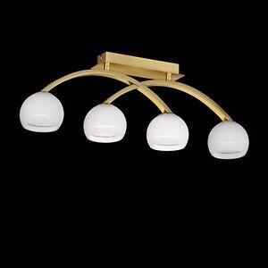WOFI-Plafonnier-Lynn-4-BRAS-laiton-boule-en-verre-blanc-132-Watt-1840-Lumen