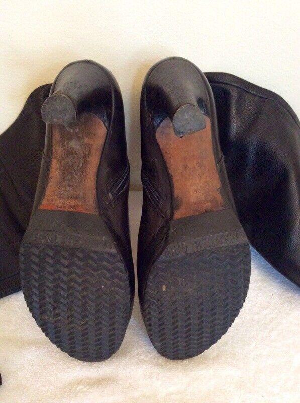 Kurt Geiger Cuero Cuero Cuero Negro botas Hasta La Rodilla Talla 3.5 36 15bd71