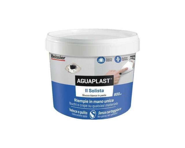 Stucco in pasta per interno e esterno 800ml Il Solista Aguaplast Boldrini