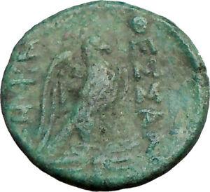 THESSALONICA-Macedonia-187BC-Ancient-Rare-Greek-Coin-ZEUS-EAGLE-i22741