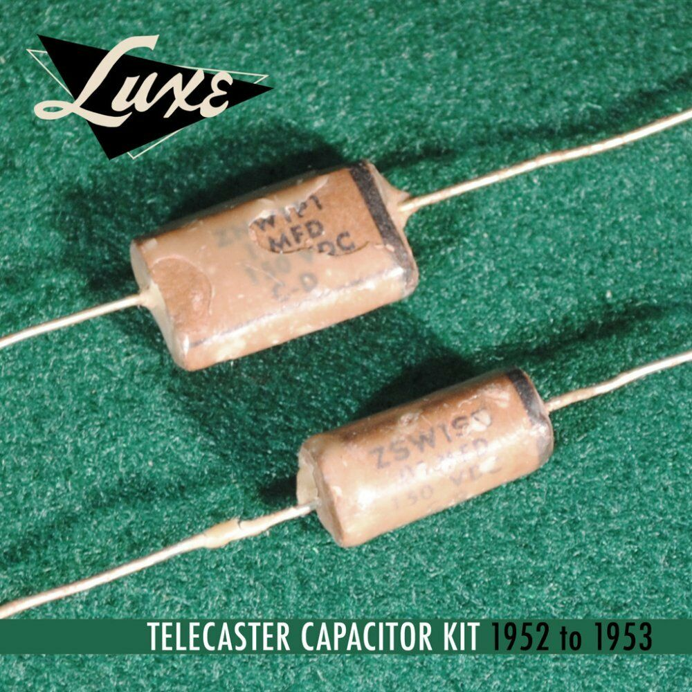 Luxe 1952-1953 Telecaster  Wax Impregnated Paper & Foil .1mF & .05mF Capacitors