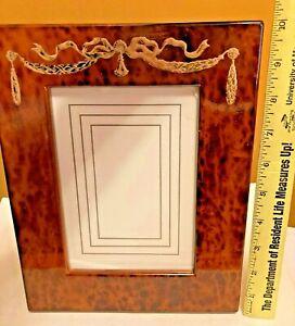 """Vintage Birdseye Maple Burl Wood Picture Frame Decorative Frame, 8 x 10"""" Japan"""