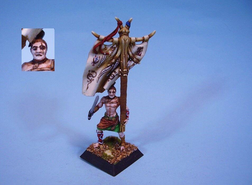Konfrontation målat miniatyr Barbarisk ståardbärare