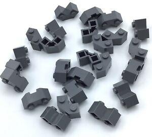 Lego 50 New Light Bluish Gray Bricks Modified Facet 2 x 2 Pieces