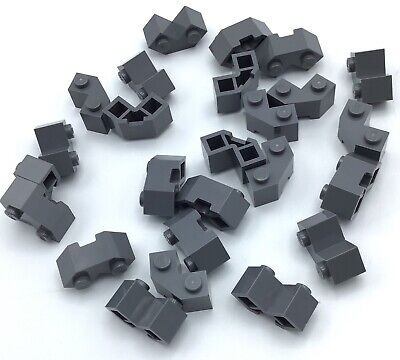 Lego 100 New Black Bricks Modified Facet 2 x 2 Dot Pieces