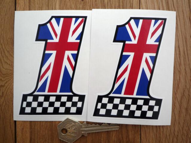UK No1 Chequered Stickers Union Jack etc.Triumph Jaguar