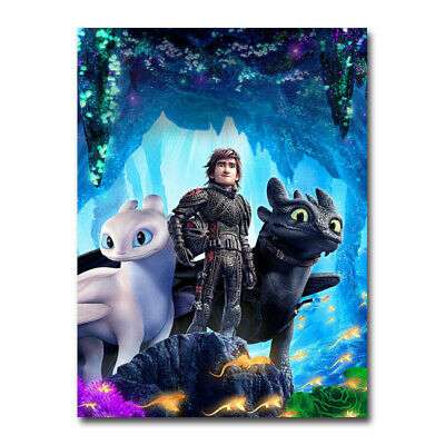 How To Train Your Dragon Movie Art Silk Poster 12x18 24x36