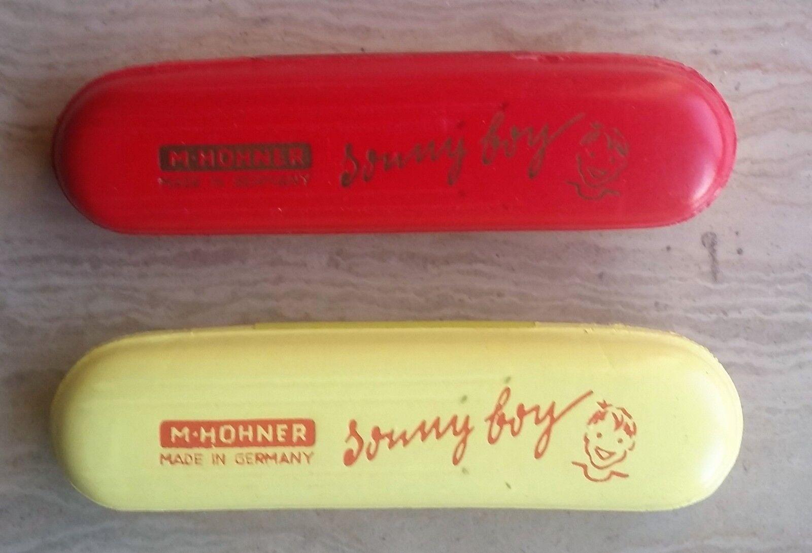 2 Armonica Hohner Vintage Sonny Boy 32V Anni50 - Set di 2 NUOVE - rot e Gelb