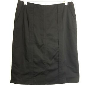 calvin-klein-black-stretch-career-pencil-skirt-size-6