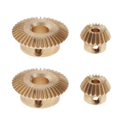 4x 0.5 Modulus Brass Bevel Gear 20 /& 40 teeth 3 /& 6mm Inner Hole Dia Height 8mm