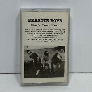 Rare-Beastie-Boys-Check-Your-Head-Promo-Cassette-Music-Tape-8-Song-Track-Sampler