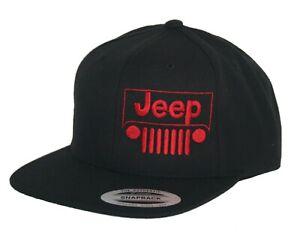 Jeep-hat-cap-flat-bill-snapback-willys-4x4-cj