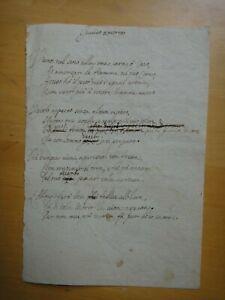 1800 circa-Due sonetti manoscritti+