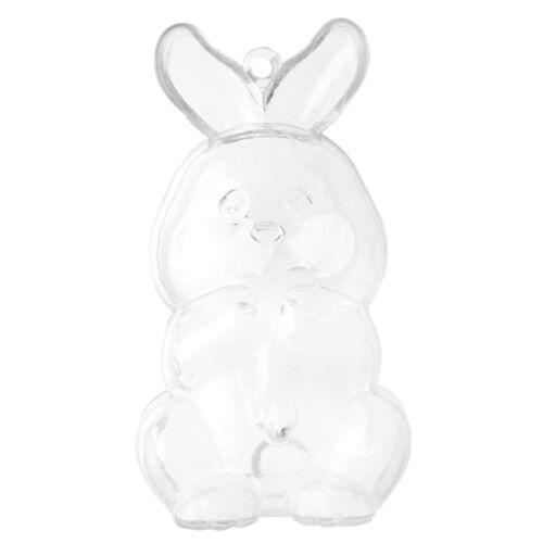 """Acrylique /""""petit lapin/"""" CLAIR 3.7 x 9 cm Décoration de Table offert Déco Pâques"""