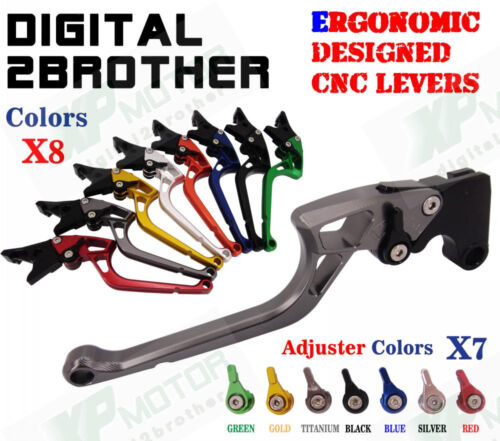 Ergonomic CNC Adjustable Brake Clutch Levers For Suzuki DL1000 V-Strom 2002-2014
