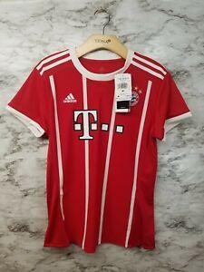 Adidas Bayern Munich Red Women's Soccer Jersey Sz M New 80$ Tags ...