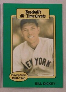 Details About 1987 Hygrade All Time Greats Bill Dickey Yankees Baseball Card
