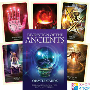 Divination-of-The-Ancients-Oracle-Deck-Cards-Geheimlehre-Blue-Angel-New