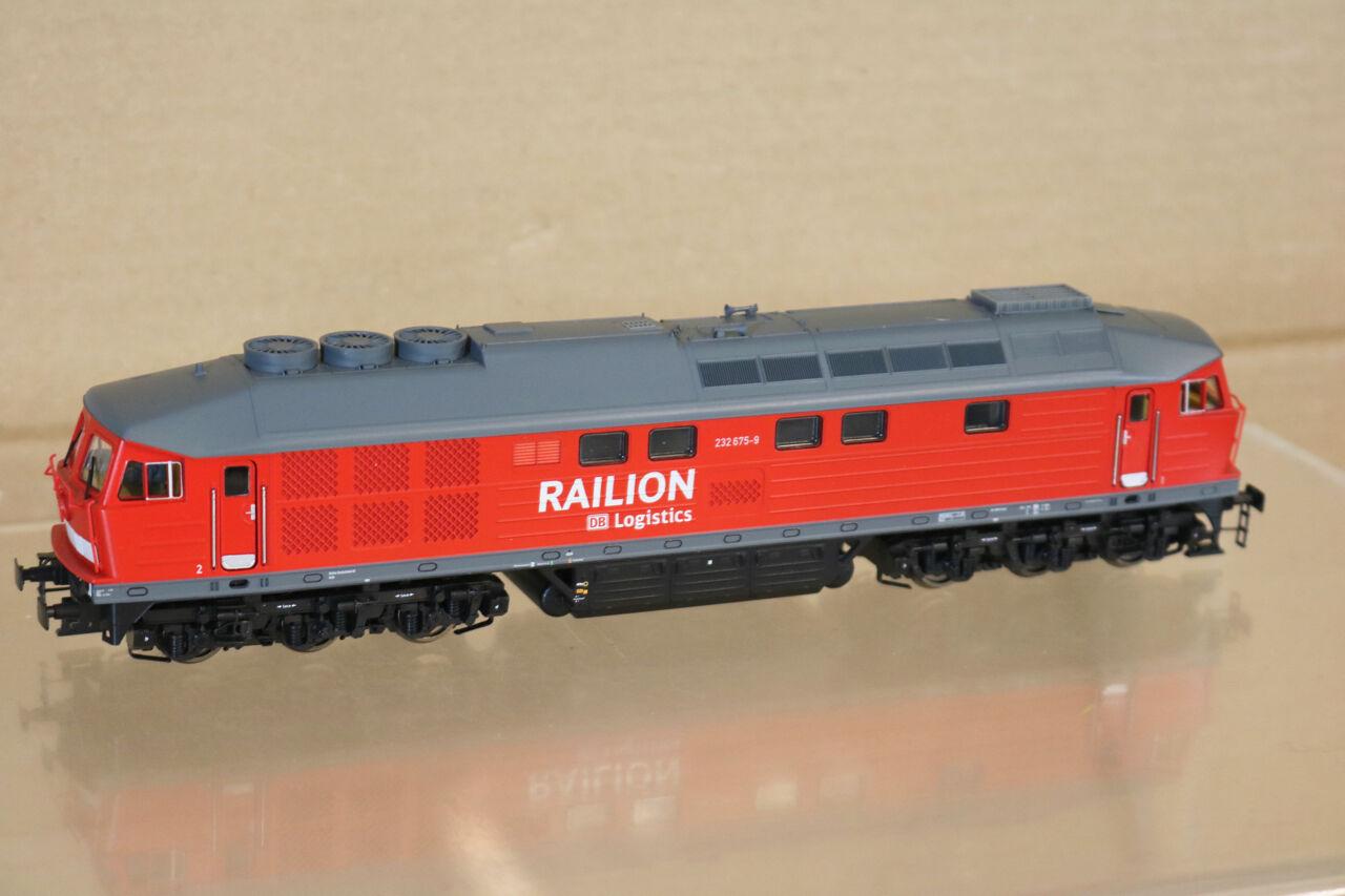 Brawa 41044 Digital Db Db Db Railion Logística Clase Br 232 675-9 Diesel Loco MIB Nl ce656a