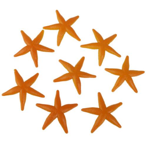 8pcs Plastic Starfish Figure Luau Tropical Beach Party Goody Loot Bag Favors