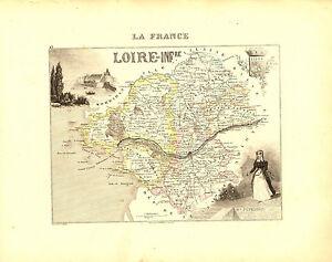 Carte du Département de la LOIRE-ATLANTIQUE- vers 1880. Migeon- Infériieure ZbkD49kd-09120726-733273595