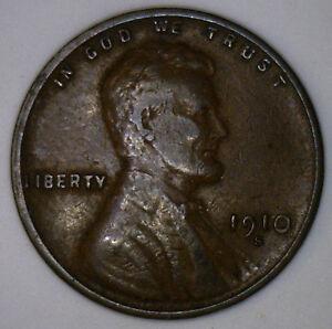 1910-S-Lincoln-GRANO-Rame-PENNY-1-cent-Stati-Uniti-MONETA-OTTIME-CONDIZIONI