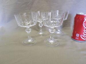 66D Vtg 4 Elegant Crystal Stemmed Bar Ware Glasses Wine/Champagne IMMAC!!